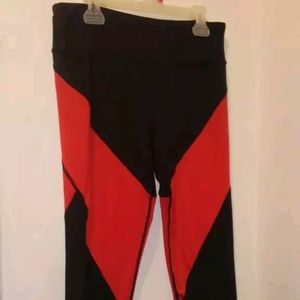 Black and red leggings